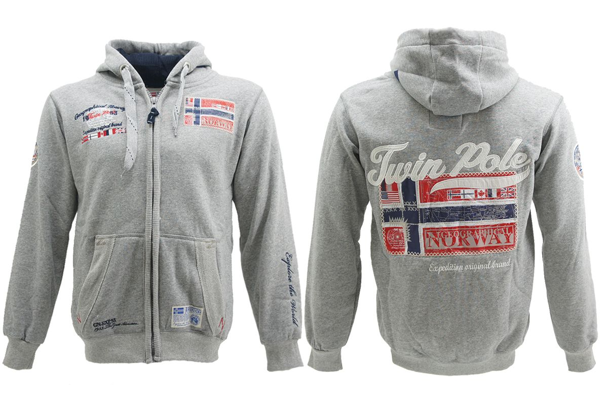 Geographical-Norway-Sweat-Jacke-Hoodie-Kapuzen-Jacke-Pullover-Glasquow-S-XXL