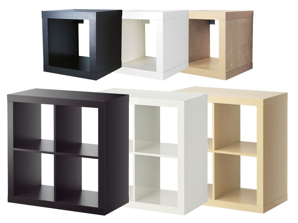 ikea expedit regal 2x2 | 79 x 79 x 39 cm | oder würfel 1x1 | 44 x 44