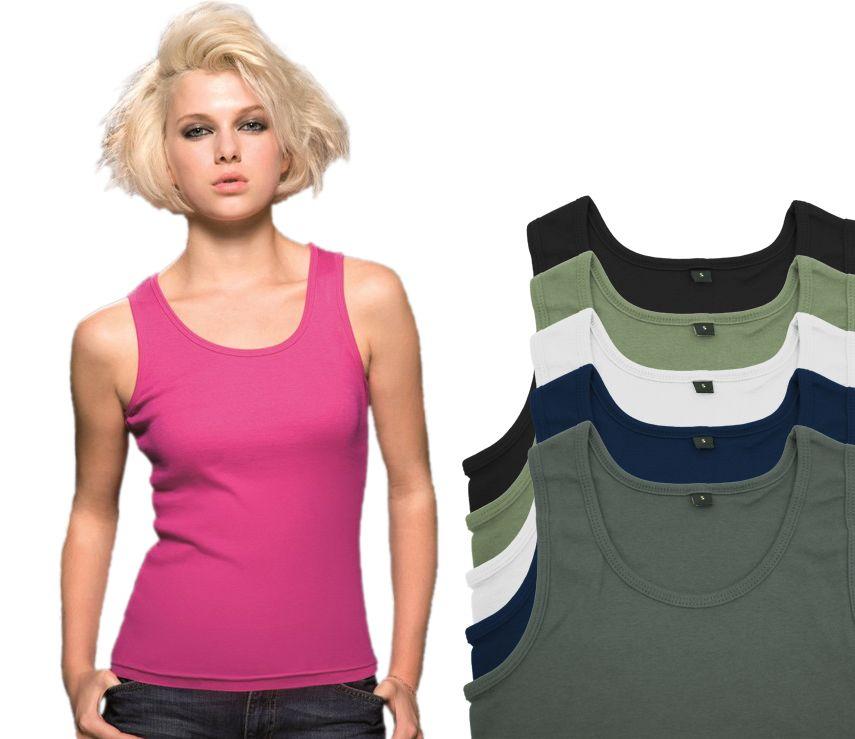 MANTIS WORLD Tank Top Damen Basic Shirt Oberteil *WOW*