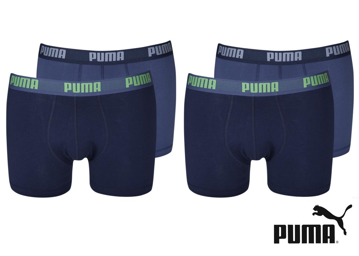 4er pack puma unterw sche damen und herren boxer short mini short hipster wow ebay. Black Bedroom Furniture Sets. Home Design Ideas