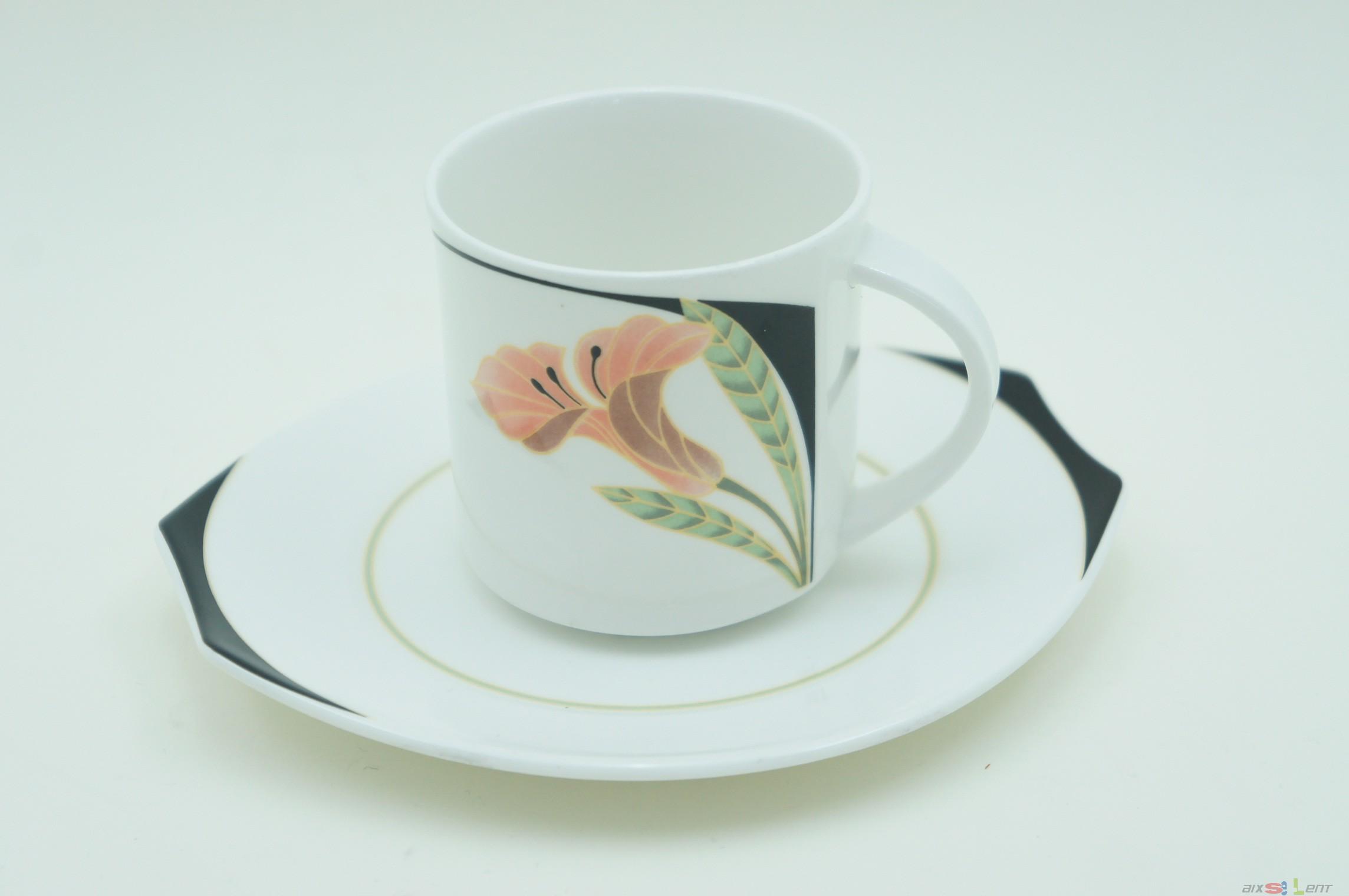 details zu villeroy boch iris tasse unterteller unter teller wei. Black Bedroom Furniture Sets. Home Design Ideas