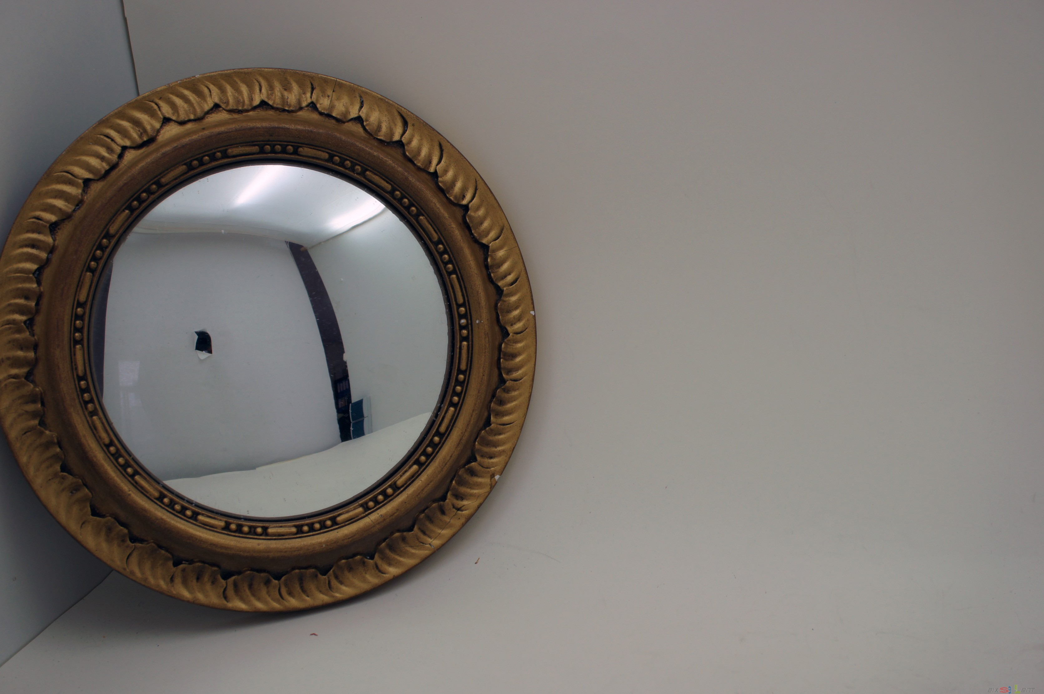 antique convex good condition gold frame mirror wood frame decorating ebay. Black Bedroom Furniture Sets. Home Design Ideas