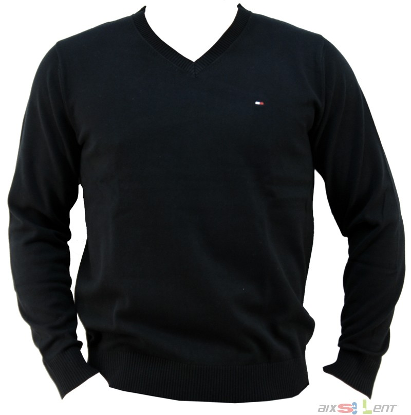 tommy hilfiger pacific th v neck herren pullover shirt schwarz neu ovp uvp 99 95 ebay. Black Bedroom Furniture Sets. Home Design Ideas